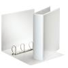 ESSELTE Gyűrűs könyv, panorámás, 4 gyűrű, D alakú, 75 mm, A4, PP/PP, , fehér