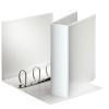 ESSELTE Gyűrűs könyv, panorámás, 4 gyűrű, 86 mm, A4, PP/PP, , fehér