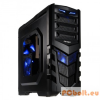 "ANTEC GX505 Windows Blue Edition Black Black,2x5,25"",1+belső 4x3,5"",ATX,Window,Audio,Táp nélkül,200x485x465mm,1x2,5"",Ventillátor:3x12cm,2xUSB3.0"