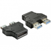 DELOCK Adapter USB 3.0 pin header male > 2 x USB 3.0-A male – parallel 65398