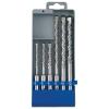 Betonfúró klt. SDS PLUS, 6db, 110mm 5,6,8, 160mm 8,10,12, műanyag tartóban (Fúró)
