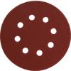Extol Csiszolókorong vászon, lyukas klt. 10db, 125mm, 8 db lyukkal, P100-as, tépőzáras (Csiszolókorong)
