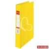 "ESSELTE Gyűrűs könyv, 2 gyűrű, 42 mm, A4, PP/PP, ESSELTE ""Standard"", Vivida sárga"
