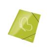 """Leitz Gumis mappa, 15 mm, karton, A4, lakkfényű, LEITZ """"Wow"""", zöld"""