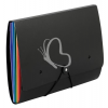 """VIQUEL Irattartó mappa, csúsztatható, gumis, 6 részes, VIQUEL """"Rainbow Class"""", fekete"""