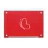"""NOBO Mágneses üveg tábla, 60x45 cm, NOBO """"Diamond"""", piros"""