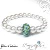 Swarovski gyöngy karkötő - White - zöldes kék
