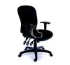 """MAYAH Irodai szék, állítható karfával, fekete gyöngyszövet-borítás, fekete lábkereszt, MAYAH """"Comfort"""" forgószék"""