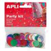 APLI Konfetti, metál,15 mm, kör, APLI, vegyes színek (LCA13817)
