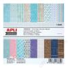 APLI Mintás kartonpapír Scrapbooking-hoz, 15,2 x 15,2 cm, APLI, Moments (LCA13669)