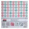 APLI Mintás kartonpapír Scrapbooking-hoz, 30,5 x 30,5 cm ,APLI, Vintage (LCA13667)