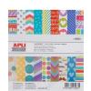 APLI Mintás kartonpapír Scrapbooking-hoz, 15,25 x 16,25, APLI,  Happy (LCA13933)