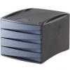 FELLOWES 4 fiókos irattároló, műanyag, FELLOWES Green2Desk, kék