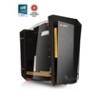 IN WIN S-Frame Arany-Fekete (Táp nélküli) ATX ház számítógépház