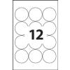 ETIKETT CÍMKE UNIVERZÁLIS 60 MM KÖR 12 DB/ÍV, 1200 DB/CSOMAG