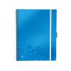 Leitz Spirálfüzet WOW Active, A4, kockás, kék