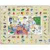 Larsen maxi puzzle 70 db-os Tanuljunk angolul! - Osztályterem EN6