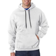 GILDAN kapucnis pulóver, fehér