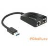 DELOCK USB3.0 to 2xGigabit LAN Black