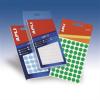 APLI Etikett, 8 mm kör, kézzel írható, fehér, , 480 etikett/csomag