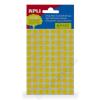 APLI Etikett, 8 mm kör, kézzel írható, színes, APLI, sárga, 288 etikett/csomag (LCA2044)