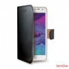 CELLY Galaxy S6 Edge book cover tok,Fekete