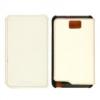 Samsung EF-C1B1NBECSTD oldalra nyíló támasztós gyári bőrtok Galaxy Note Tab 5.3-hoz fehér (N7000)*