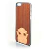 CreatiWood iPhone 6 baglyos hátlap makore/nyárfából