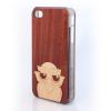 CreatiWood iPhone 4/4S baglyos hátlap makore/nyárfából