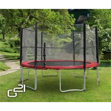 G21 trambulin biztonsági hálóval, 430cm, piros trambulin szett