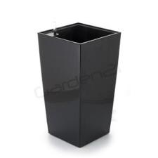 G21 önöntöző kaspó Linea small 28 cm, fekete kerti tárolás