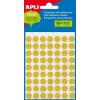 APLI Etikett, 13 mm kör, kézzel írható, színes, APLI, sárga, 175 etikett/csomag (LCA2055)