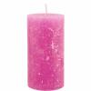 RUSTIC gyertya pink 6.8x13cm 66h