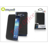 Muvit Samsung SM-G920 Galaxy S6 flipes tok - Muvit Crystal Folio Croco - black