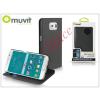 Muvit Samsung SM-G920 Galaxy S6 flipes tok kártyatartóval - Muvit Wallet Folio - black