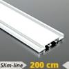 Alumínium függönysín (fehér) - 2 sor - 200 cm