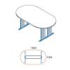 Megrendeléstől számított kb. 2 hét TA-180/100-O-AVA ovális tárgyalóasztal (180 x 100 cm-es ovális tárgyalóasztal AVA fémlábbal)