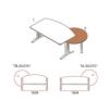 TB-50/270°-LUX íróasztal