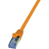 LogiLink RJ45 Hálózati csatlakozókábel, CAT 6A S/FTP [1x RJ45 dugó - 1x RJ45 dugó] 1,5 m Narancs LogiLink