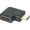 SpeaKa Professional HDMI adapter [1x HDMI 1x HDMI jack dugó ] 90 ° derékszögű, SpeaKa Professional