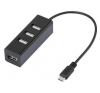 Renkforce USB hub OTG funkcióval, 4 portos, USB 2.0, Renkforce kábel és adapter