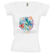 Petissimo tavaszi női póló - fehér M női póló