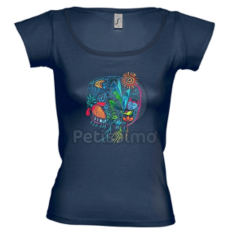 Petissimo tavaszi női póló - kék L