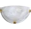 Rabalux Fali lámpa d30cm fehér alabástrom/arany köröm Alabastro 3001 Rábalux világítás