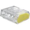 Tracon Electric Csavar nélküli vezetékösszekötő, átlátszó/sárga - 4x0,75-2,5mm2, 450V, max. 16A RVO2_5-4 - Tracon