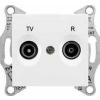 Schneider Electric SEDNA TV-R aljzat átmenő 4 db IP20 Fehér SDN3301821 - Schneider Electric