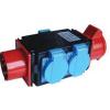 Tracon Electric Multifunkcionális ipari csatlakozó aljzat - 16A, 3P+N+E, 3x2P+E, IP44 TICS-1605 - Tracon