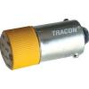 Tracon Electric LED-es jelzőizzó, sárga - 230V AC/DC, Ba9s NYGL-ACDC230Y - Tracon