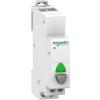 Schneider Electric A9 iPB 1NO 1-es nyomógomb szürke -jelzőlámpa zöld 12-48Vca/cc, A9E18038 Schneider Electric