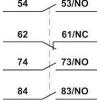 Tracon Electric Homlokoldali segédérintkező TR1K segédkontaktorokhoz - 230V, 50Hz, 2A, 3xNC+1xNO TR5KN31 - Tracon